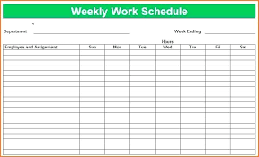 Free Work Schedule Template Templates Weekly Monthly Daily