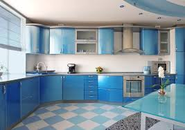 Painting Kitchen Cabinets Blue Mixer Stand Cabinet Amazing Blue High Gloss Kitchen Cabinet White