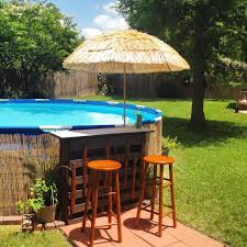 above ground swimming pool ideas. Above Ground Pool With Tiki Bar Swimming Ideas D