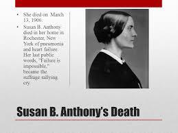 「susan b anthony death」の画像検索結果