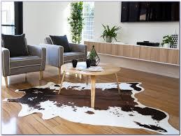 ikea cowhide rug floor