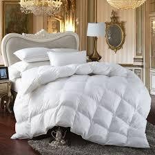 egyptian bedding all season king size luxury siberian goose down comforter duvet insert 750fp 1200 thread count 100 egyptian cotton king white solid