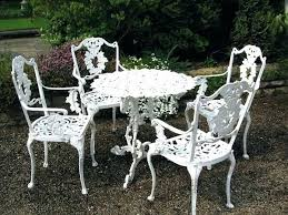 white iron patio furniture. White Metal Garden Bench Superb Folding Chair Outdoor Furniture Intended For Elegant Property Chairs Iron Patio