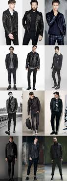 men s leather biker jackets outfit inspiration lookbook