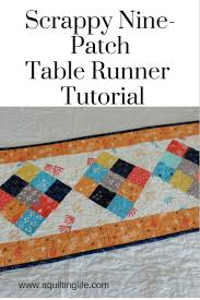 Scrappy 9-Patch Table Runner Tutorial | A Quilting Life - a quilt blog & Scrappy 9-Patch Table Runner Tutorial Adamdwight.com