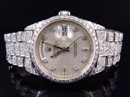 18k white gold mens rolex presidential day date diamond bezel image is loading 18k white gold mens rolex presidential day date