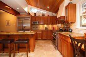Decoration Of Kitchen Room Awesome Large Kitchen Design Ideas With Wooden Cabinets And Brown