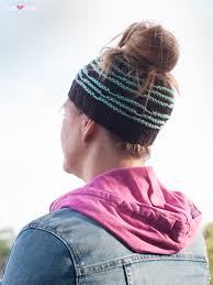 Ponytail Hat Knitting Pattern Stunning Messy Doodles PDF Ponytail Hat Knitting Pattern Ewe Ewe Yarns