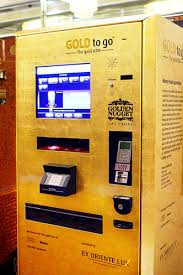 Gold To Go Vending Machine Fascinating Las Vegas Raises The Gold Bar With A Gold ATM Las Vegas Blog