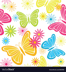 Butterfly Pattern Extraordinary Butterfly Pattern Royalty Free Vector Image VectorStock