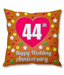 photogiftsindia 44th wedding anniversary cushion cover at best snapdeal