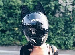 Nitrinos motorcycle full face helmet women cat ear women personality 5 colors 8 reviews cod. Bike Helmet Cat Ears Online