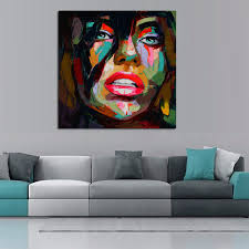 francoise nielly oil painting handmade abstract portrait palette knife art home goods wall art canvas painting on canvas wall art home goods with francoise nielly oil painting handmade abstract portrait palette