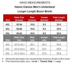 Hanes X Temp Long Boxer Briefs 3 Pack Underwear 5xl 598a