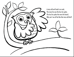 Cute Owl Coloring Page Printable Winnie The Pooh Pages Thanhhoacarcom