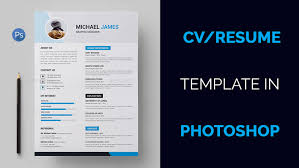 Cvresume Template Design Tutorial With Photoshop On Behance