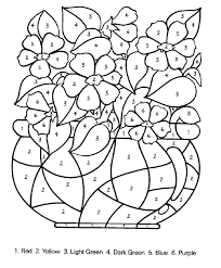 Color By Number Pages Color By Number Coloring Pages Number Coloring