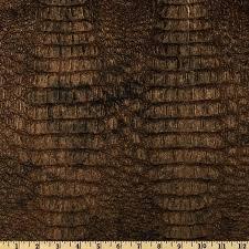 large cw faux leather fabric by the yard fringe gator metallic gilt
