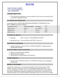 Ideas of Sample Resume For Freshers Engineers Computer Science For Your  Free Download