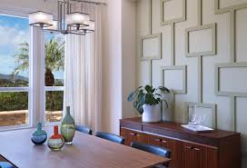 Mid-Century Modern Wall Treatment - Aliso Viejo midcentury-dining-room