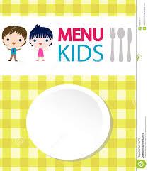Kids Menu Background Stock Vector Illustration Of Boys