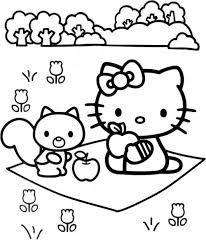They love hello kitty coloring pages as these allow them to spend some quality time with their favorite cute bobcat while playing with colors and shades. Free Printable Hello Kitty Coloring Pages For Kids