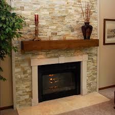 photo detail stone tile fireplace