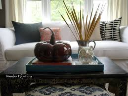 my autumn coffee table styling