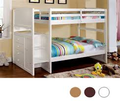 West Lake White Twin Bunk Bed with Steps