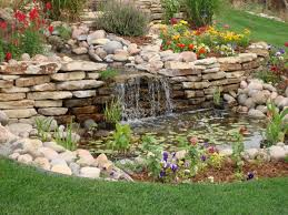 Small Picture Garden Ideas Garden Pond Design With Small Waterfalls And Stoned