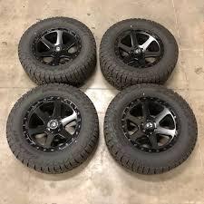 Falken Wildpeak At3w Size Chart Fuel 1 Piece Ripper D589 Matte Black Wheels With Falken Wildpeak At3w Tires