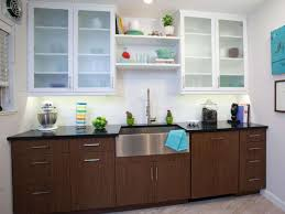 Cabinet With Frosted Glass Doors Kitchen Cabinet With Glass Doors For Opening Between Kitchen