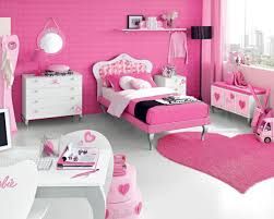 Bedroom Gorgeous Pink And Yellow Cute Girl Bedroom Round Light Pink