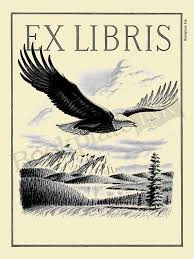 a111 majestic flying eagle bookplate with ex libris wording a112 bookplate fl wreath open book