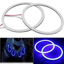 Leebo 1 Pc 60mm Blue Led Cob Angel Eye Ring O Ring Bike