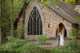 callaway gardens columbus georgia ida cason memorial chapel with stained glass wedding photo