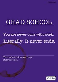 grad school you are never done work literally it never grad school you are never done work literally it never ends