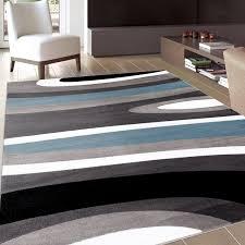 modern blue gray area rug