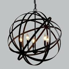 lovable metal orb chandelier
