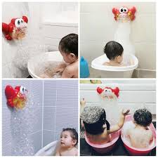 red plastic crab bubble machine fun bath bubble maker pool swimming bathtub baby bath shower