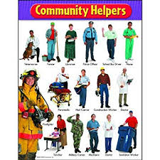 Our Community Helpers Chart Amazon Com Community Helpers Chart Set Of 3 Office