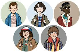 """Stranger Things Eleven Will Dustin Lucas Mike 1"""" Button sold by Snooze Labs  Crafts on Storenvy"""