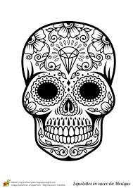 S Coloriage Tete De Mort Mexicaine Dessinsl