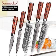 <b>SUNNECKO</b> 73 Layers Damascus Steel <b>Chef</b> Knife Japanese ...