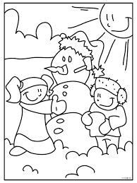 Kleurplaat Sneeuwpop Maken Kleurplatennl