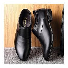 fashion men microfiber leather slip on business casual formal shoes eu