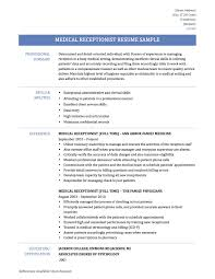 Receptionist Skills List Resumes What Medical Receptionist Resume Template Will Also Provide