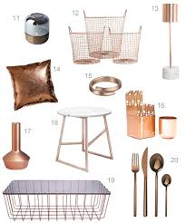 Small Picture Get the Look 40 Modern Copper Home Accessories StyleCarrot