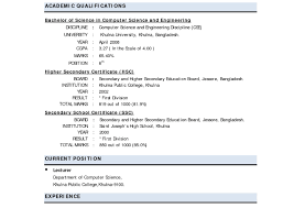 Fine Best Resume Format For Freshers In Ms Word Gallery Example