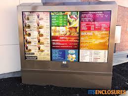 Outdoor Vending Machine Enclosures Gorgeous ViewStation Outdoor Digital Menu Boards Image Gallery